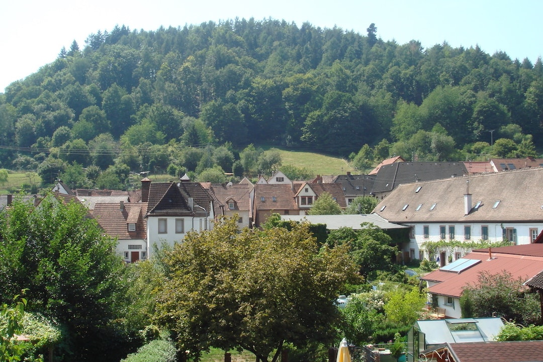 Herrliches Panorama in das Tal und Herzstück des Dorfes.