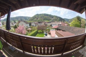 Panoramablick von Balkon