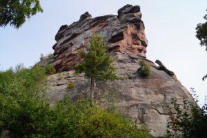 Sandsteinfelsen zum Klettern